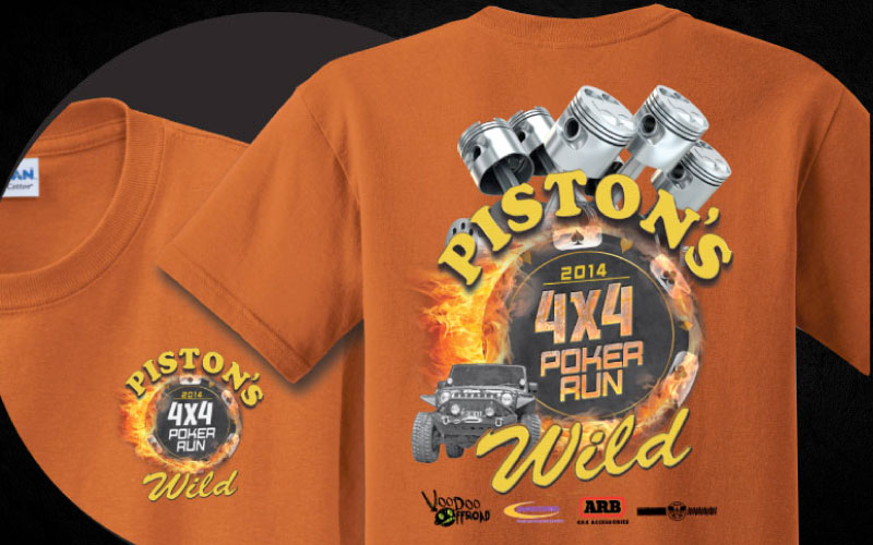 Pistons-Wild-Poker-Run T-Shirt Design